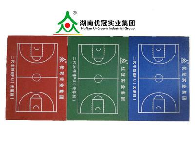 2.厚5mm硅pu塑胶球场